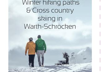 Winter hiking path & Cross country skiing map.